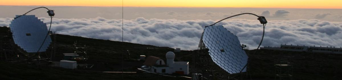 """Magic telescope on la palma"""